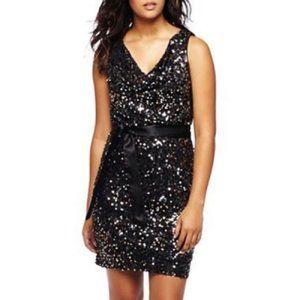 Bisou Bisou Black Sequin Cocktail Dress Size 12